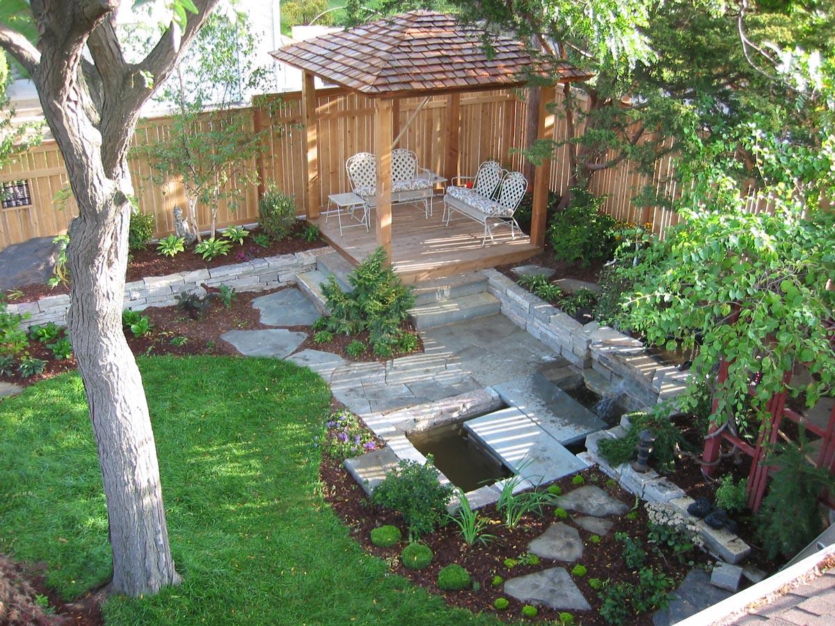 asian garden back yard
