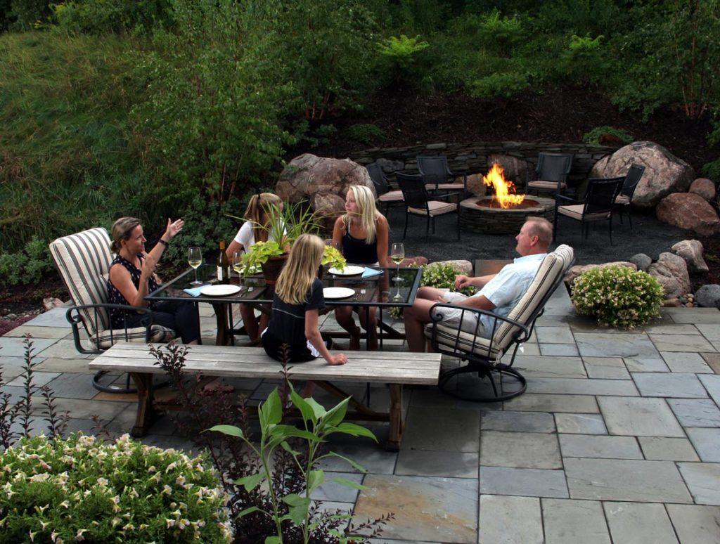 landscape architect designed patio firepit