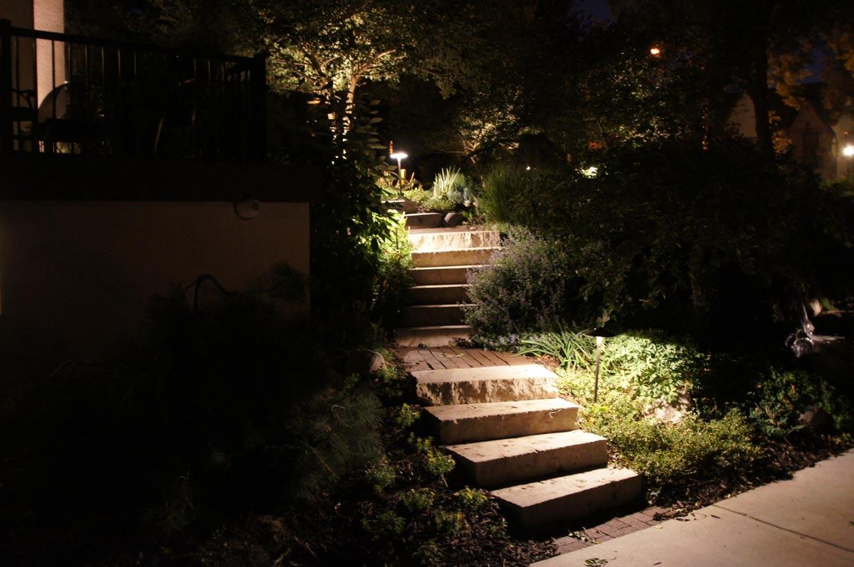lighting steps outdoor