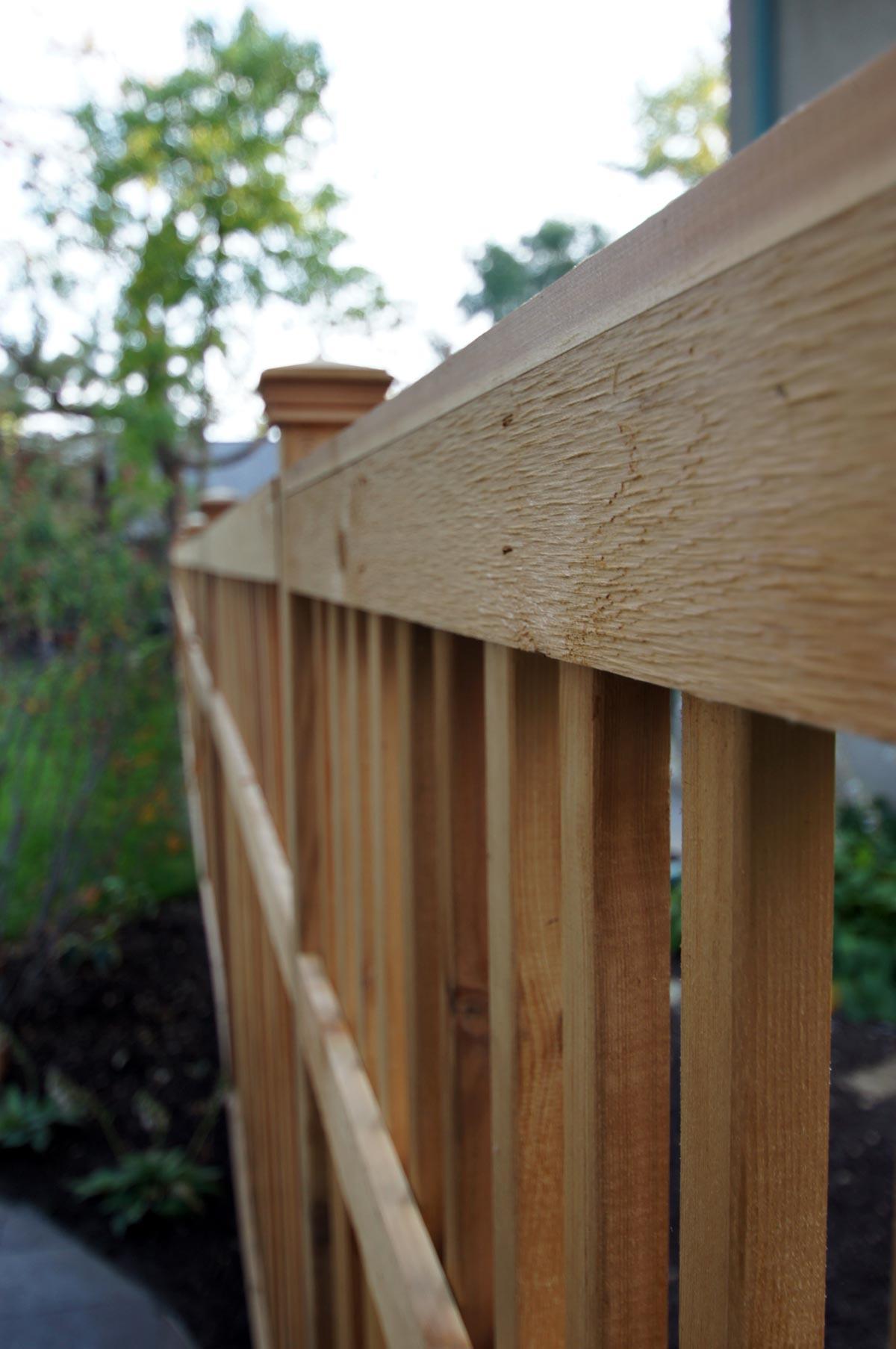 cedar fence detail