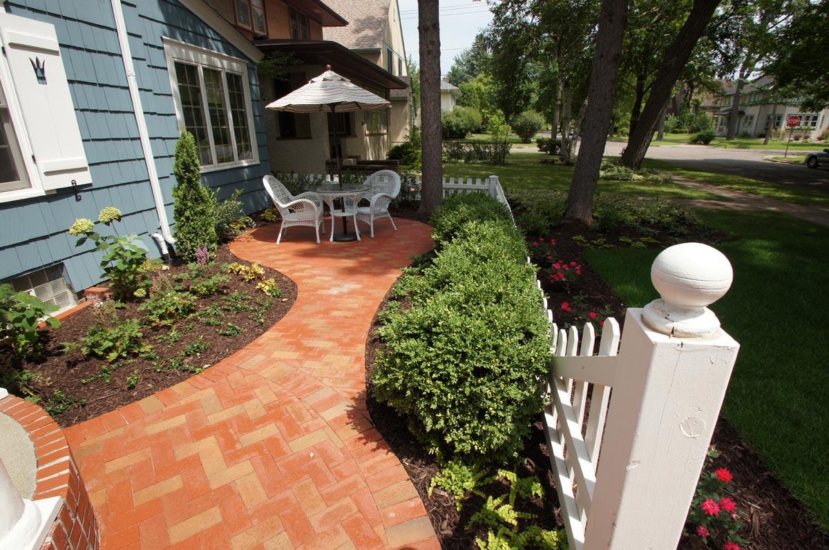 clay brick patio