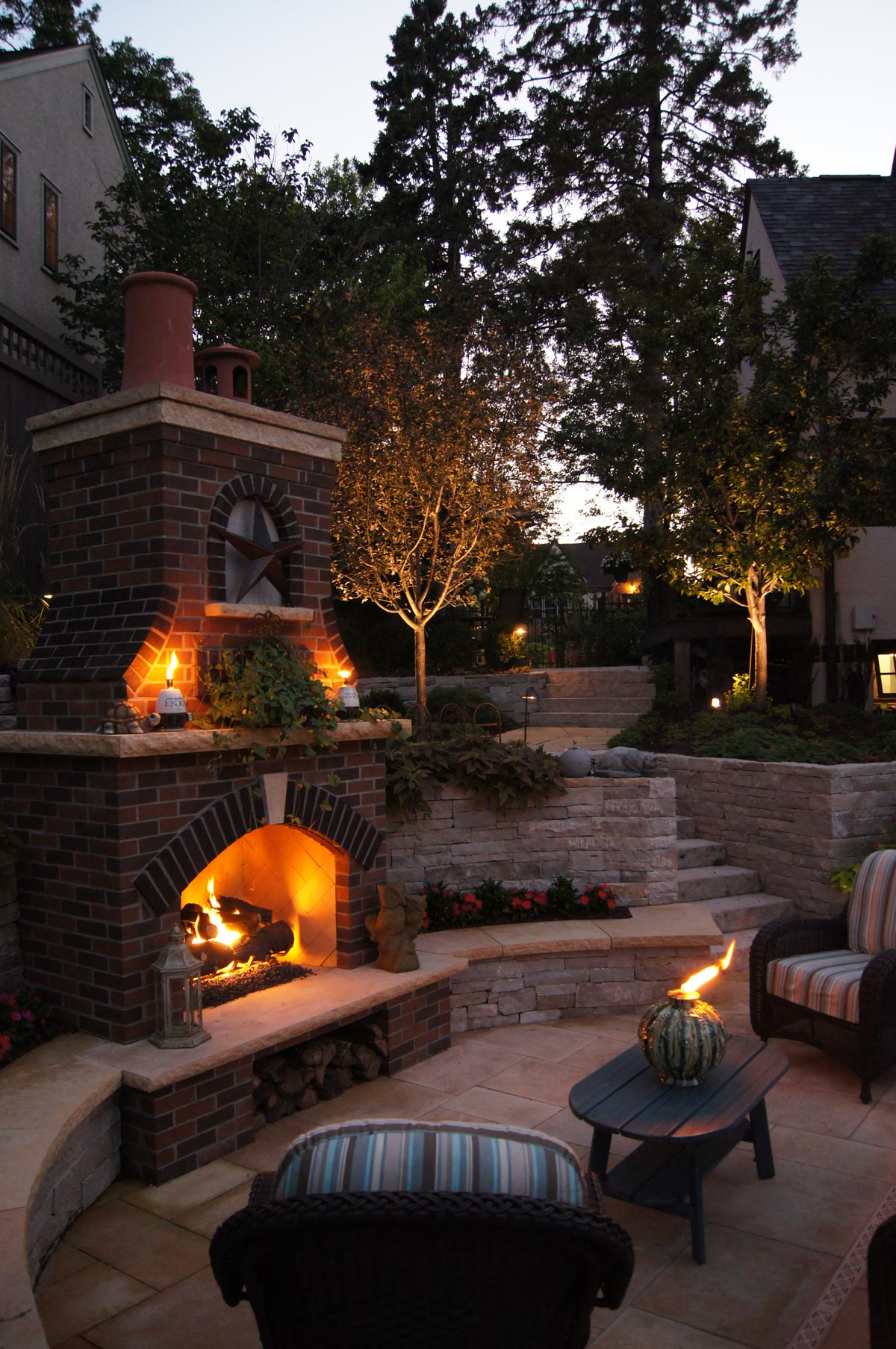 lighting landscape backyard
