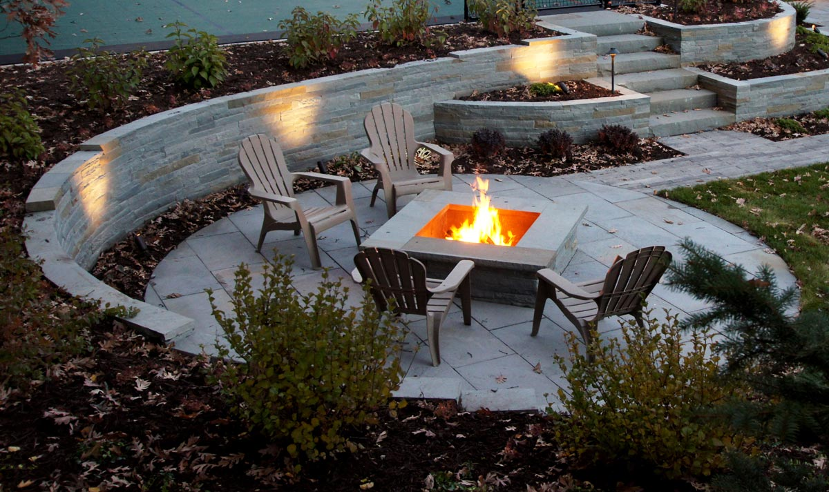 square wood fire pit
