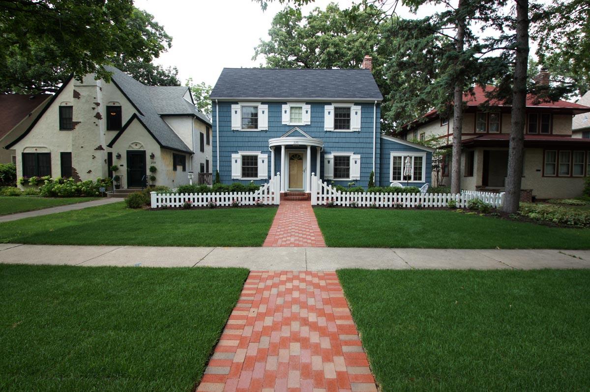 brick front walk