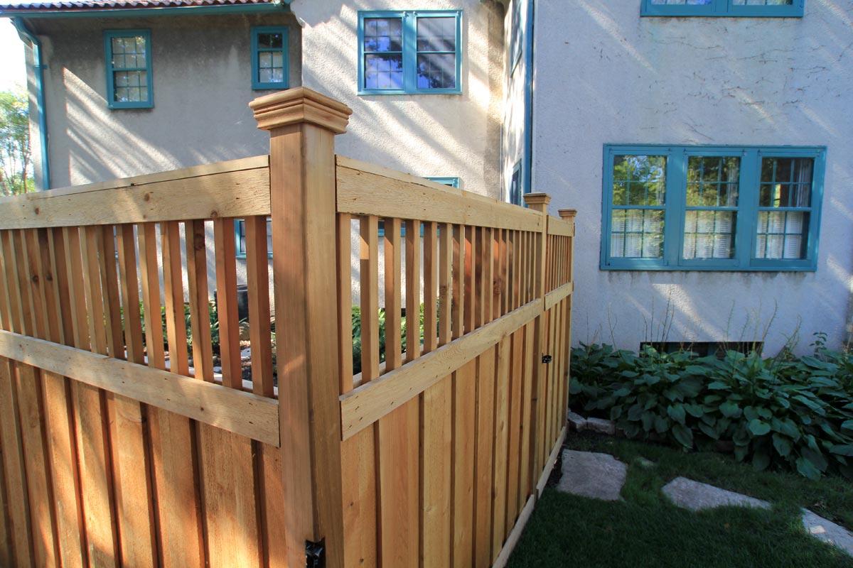 cedar fence privacy