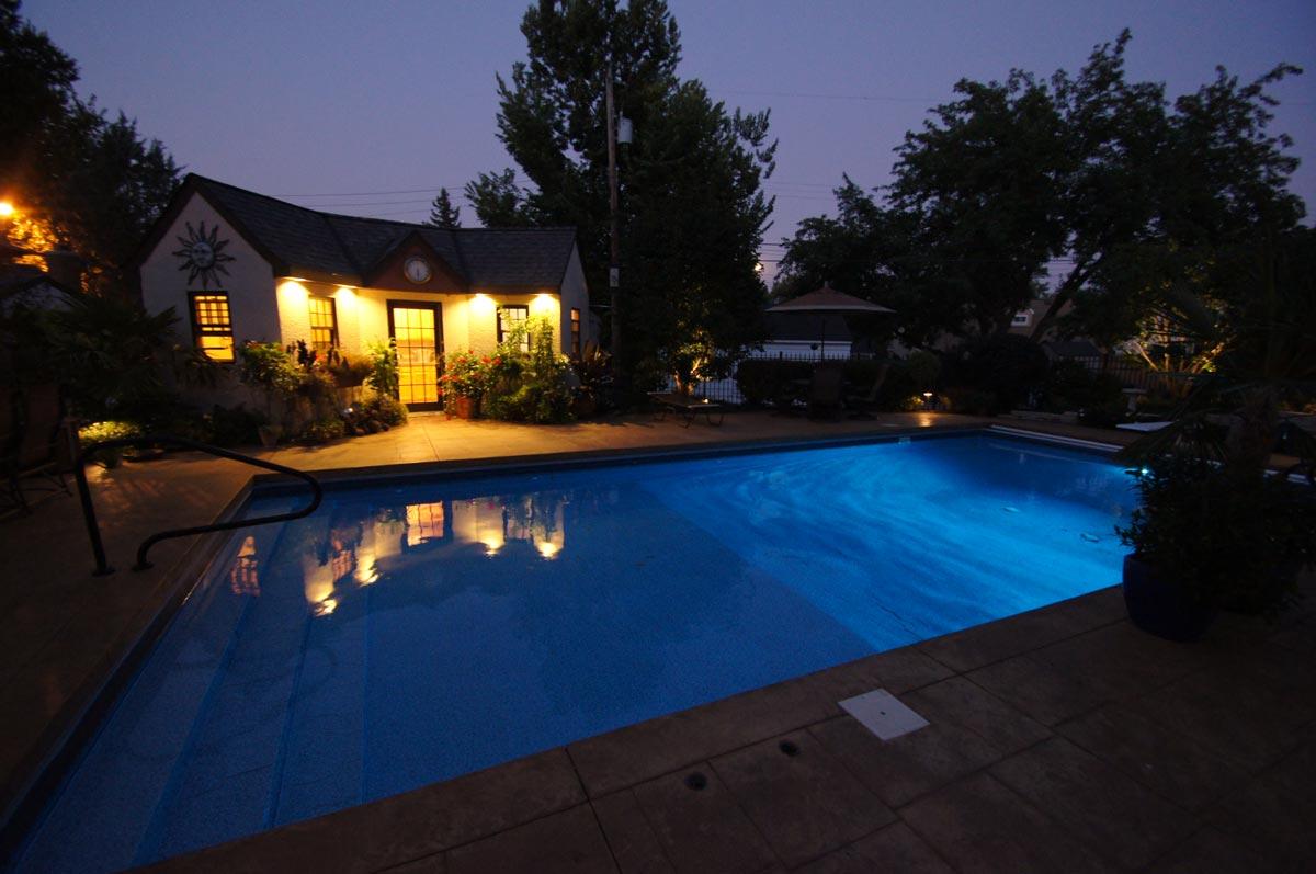 pool house lighting