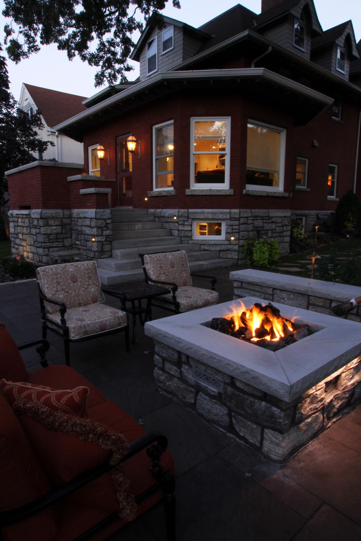 square gas fire pit