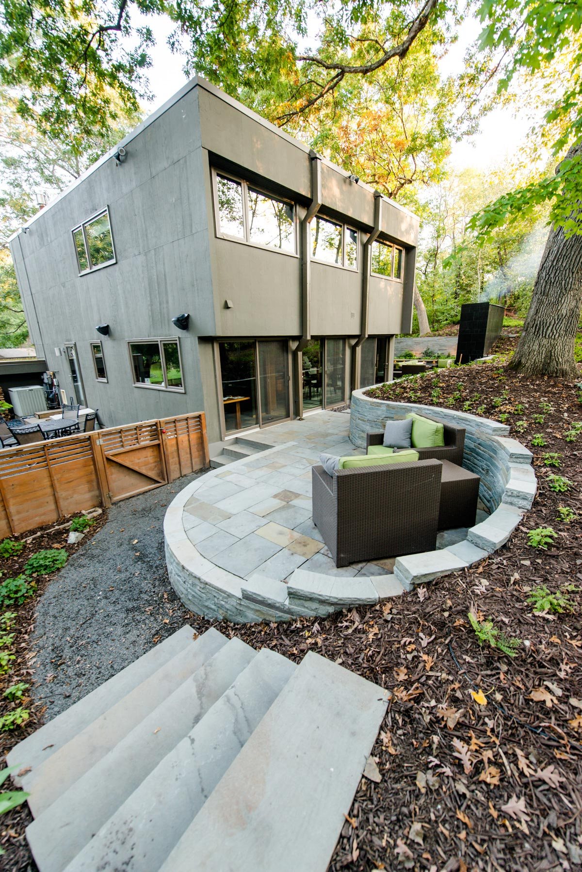 modern back yard retreat