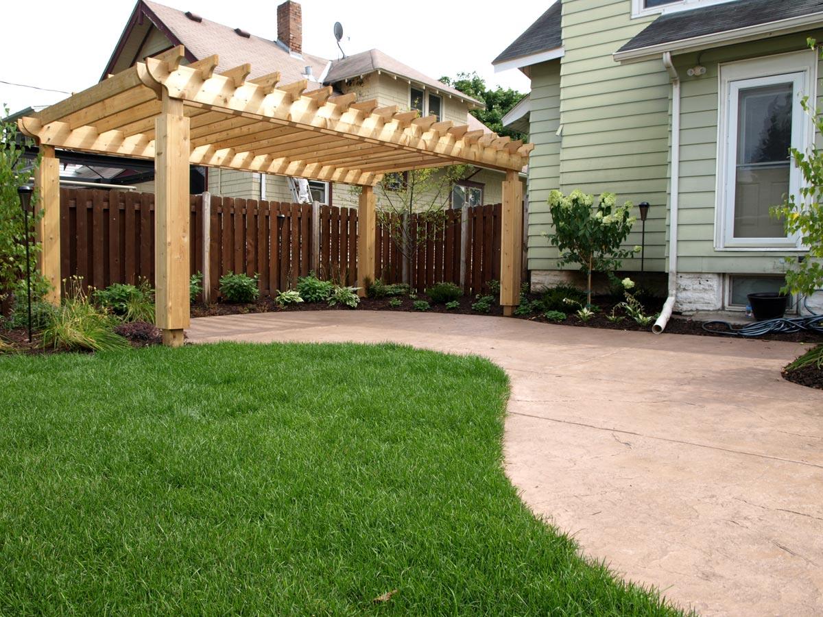 patio pergola wood