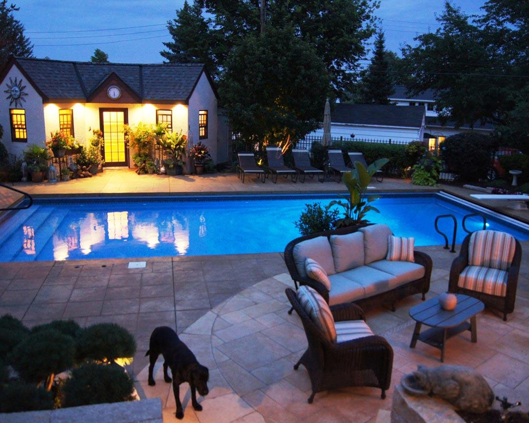 pool patio poolhouse