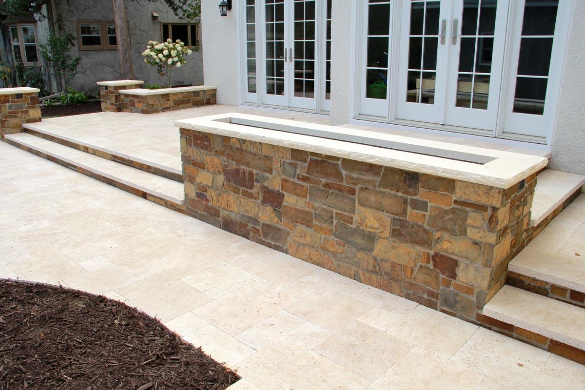 stone terraces planter