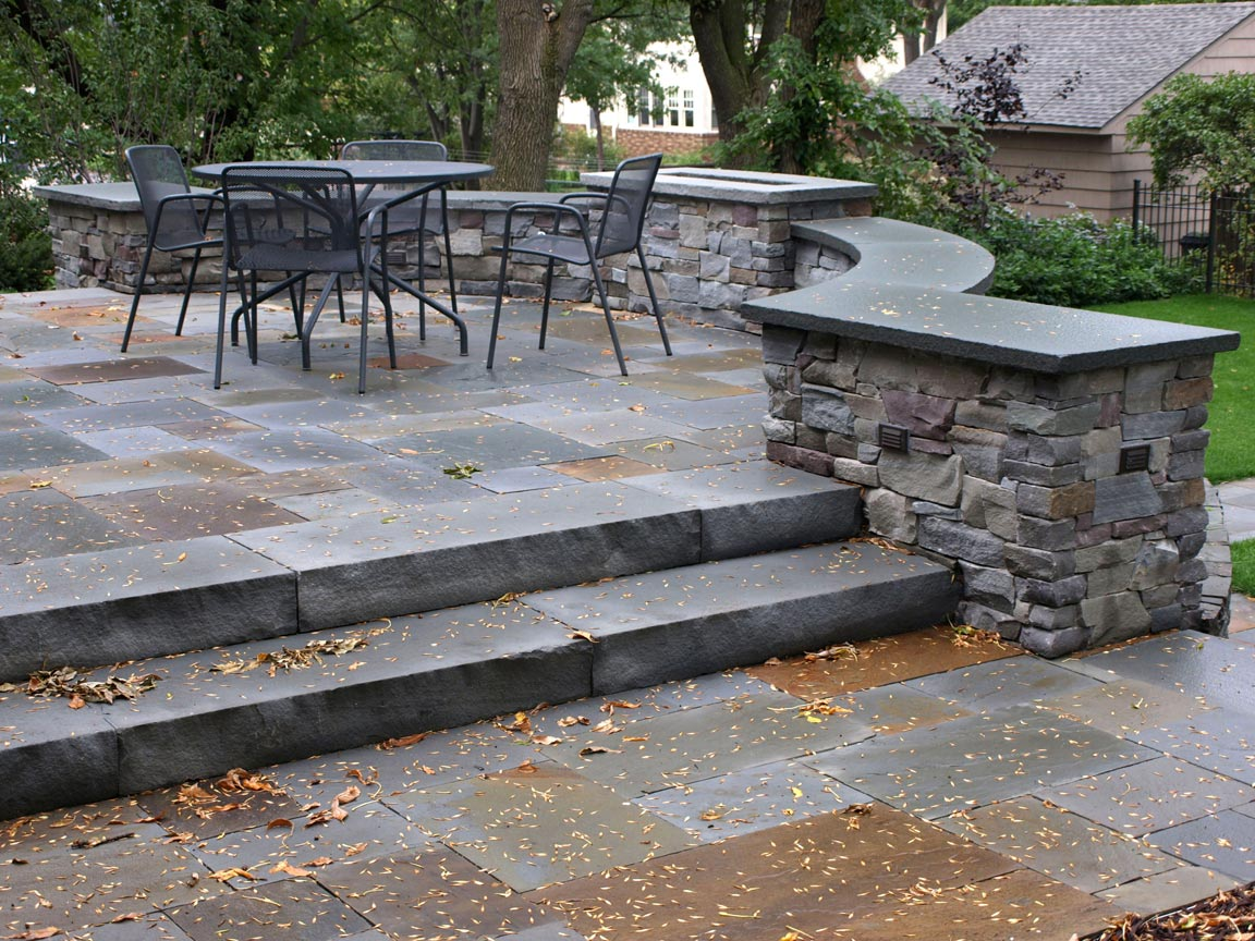 stone patio steps
