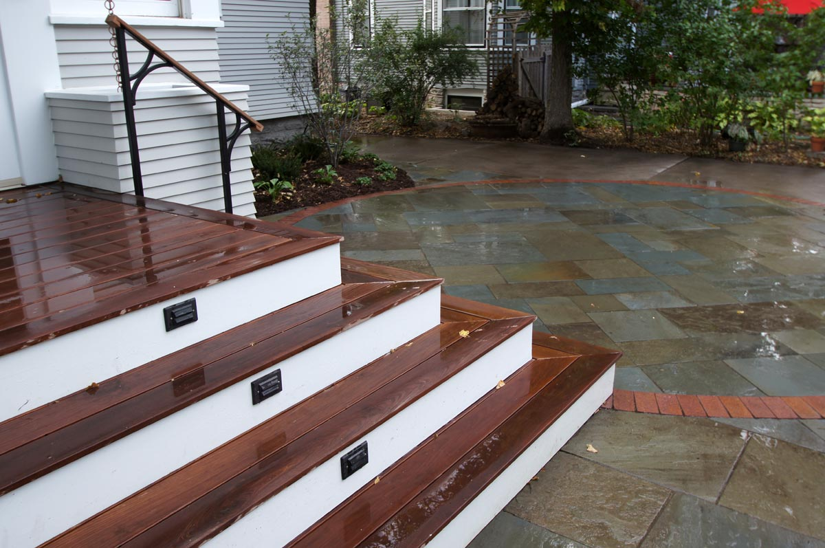 bluestone patio off deck