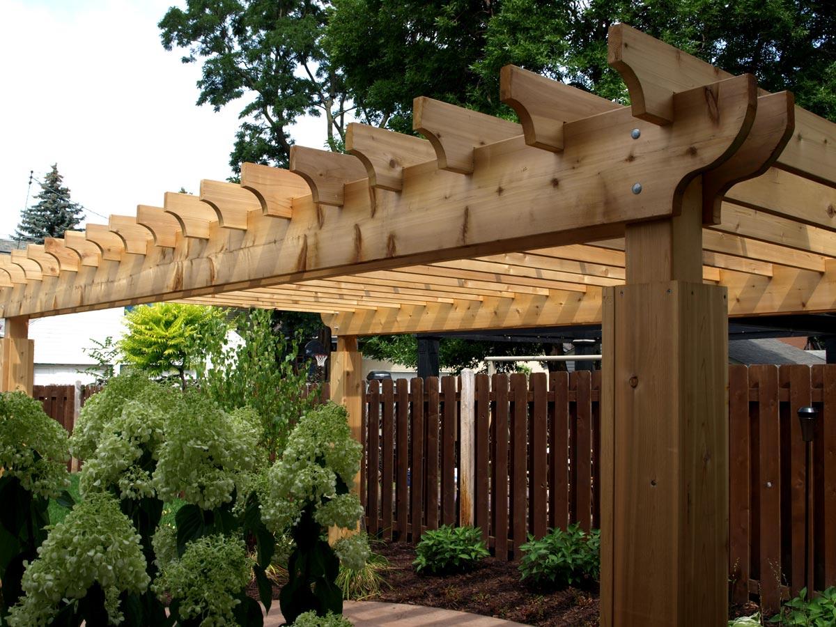 wood pergola detail