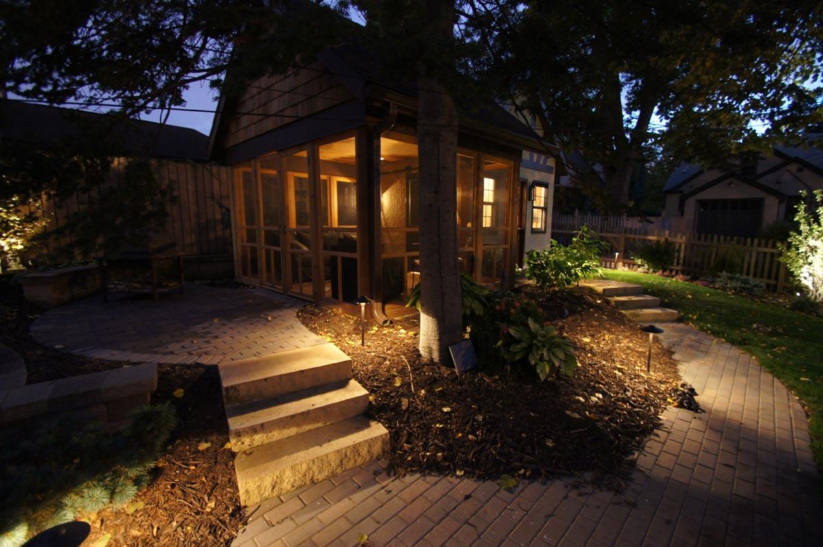back yard screen porch
