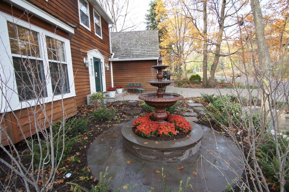 front yard fountain