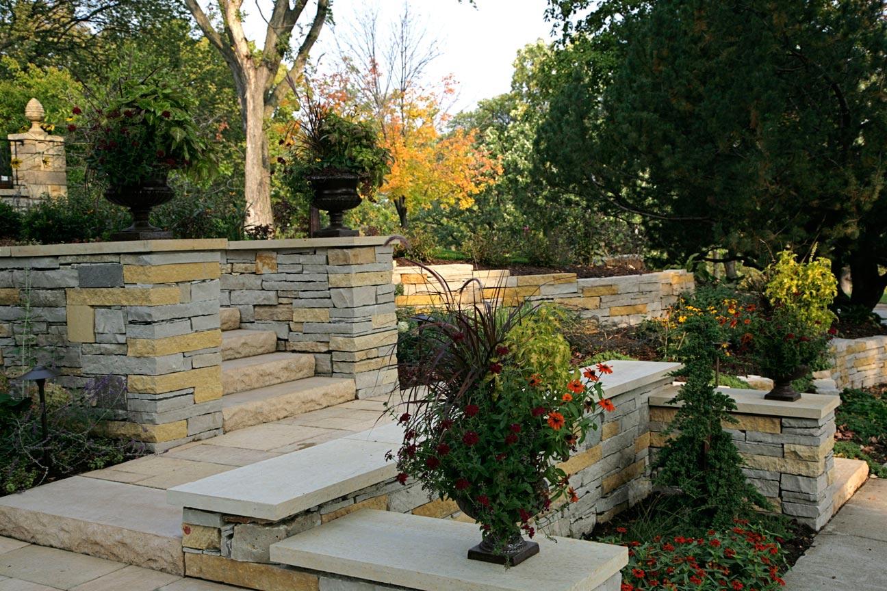 stone wing walls