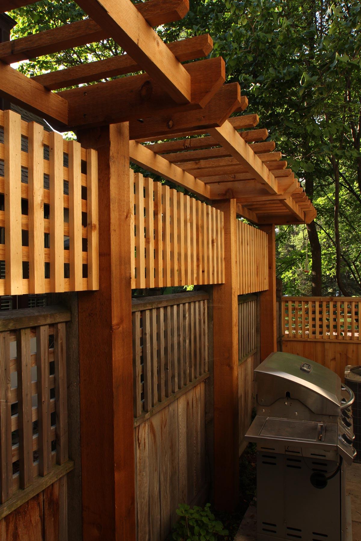 wood trellis screen