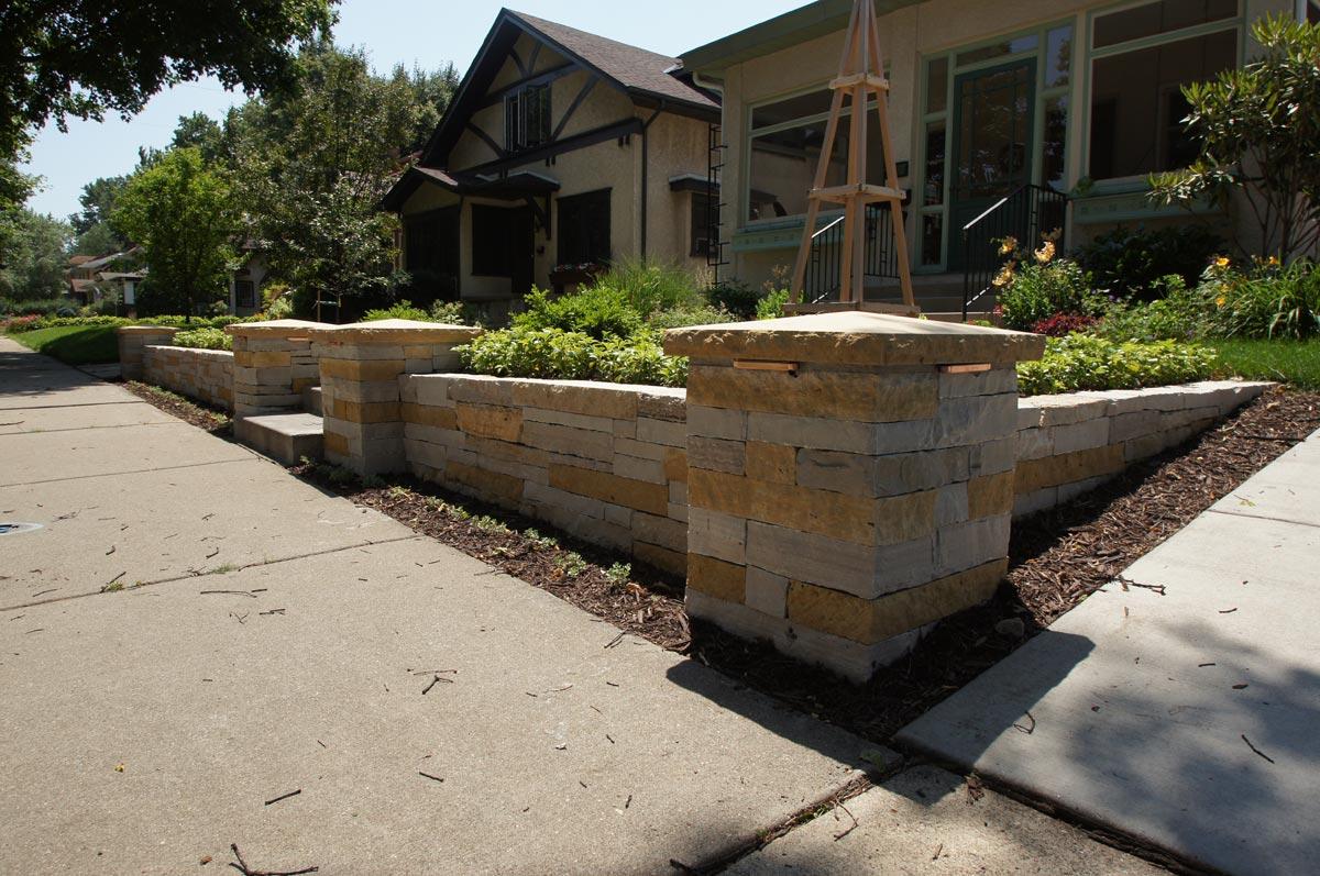front yard wall columns