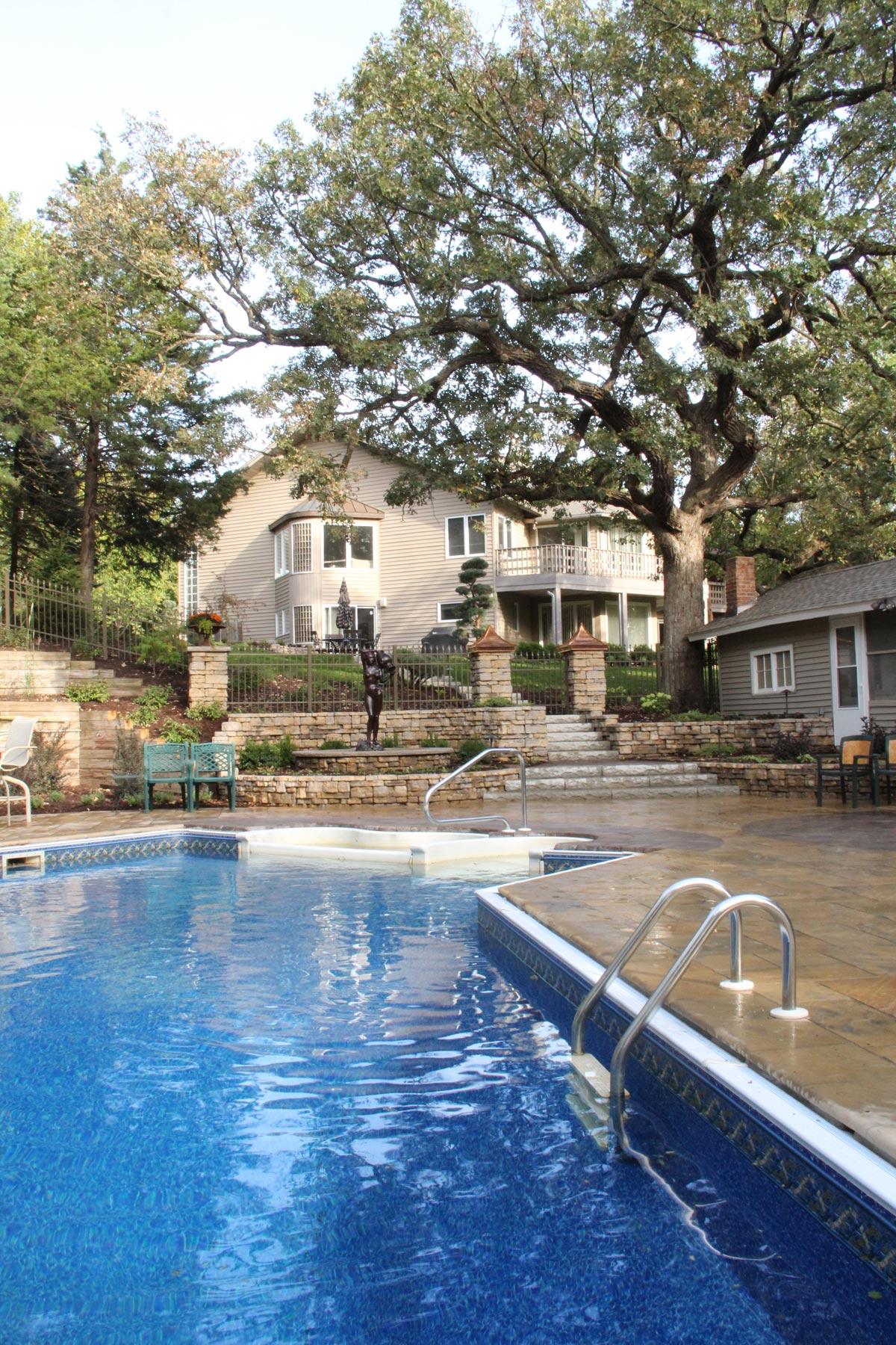 pool paver deck