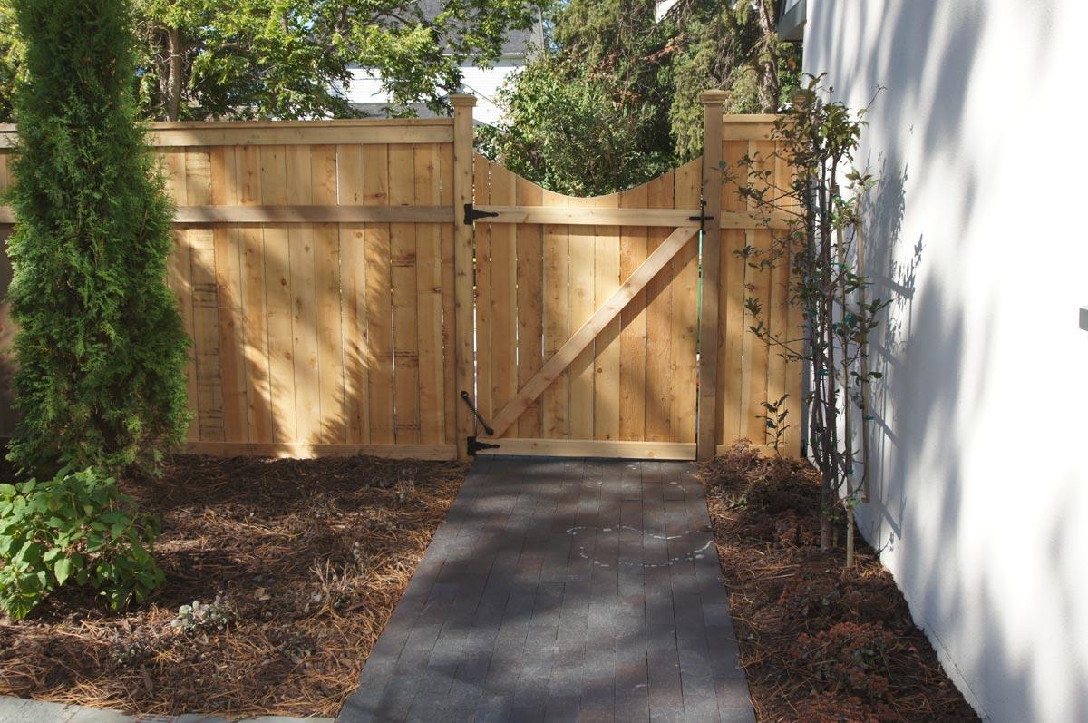 cedar scalloped gate