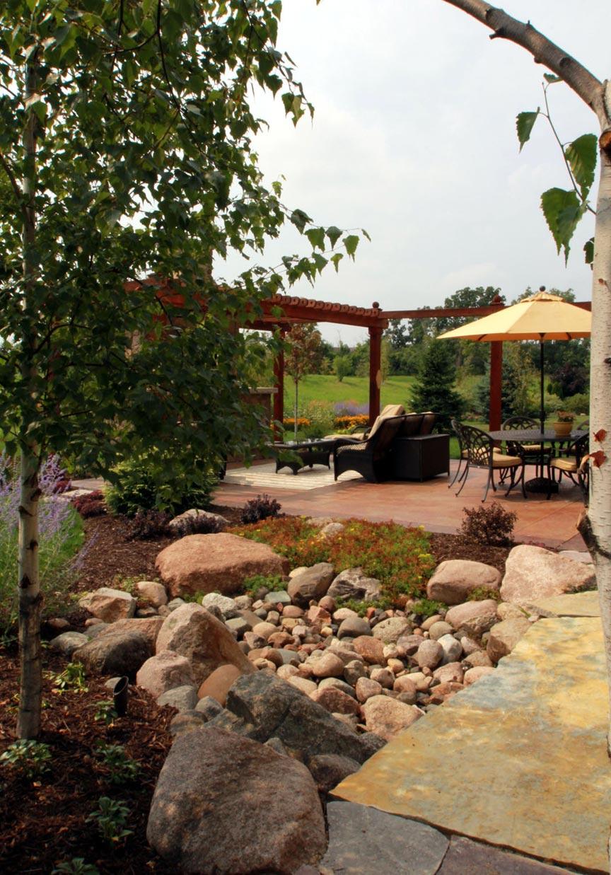 creek bed patio