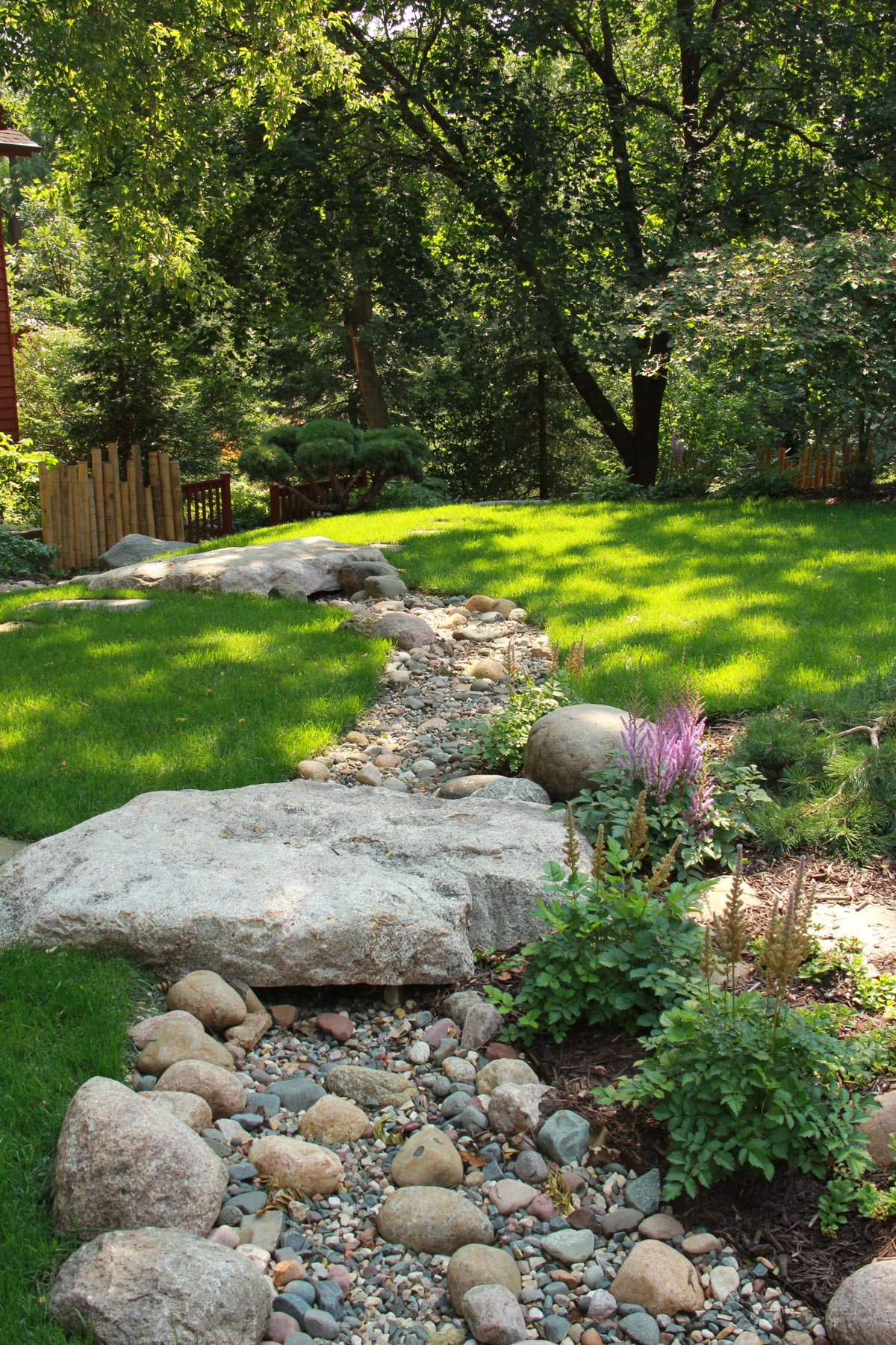 dry creek bed lawn