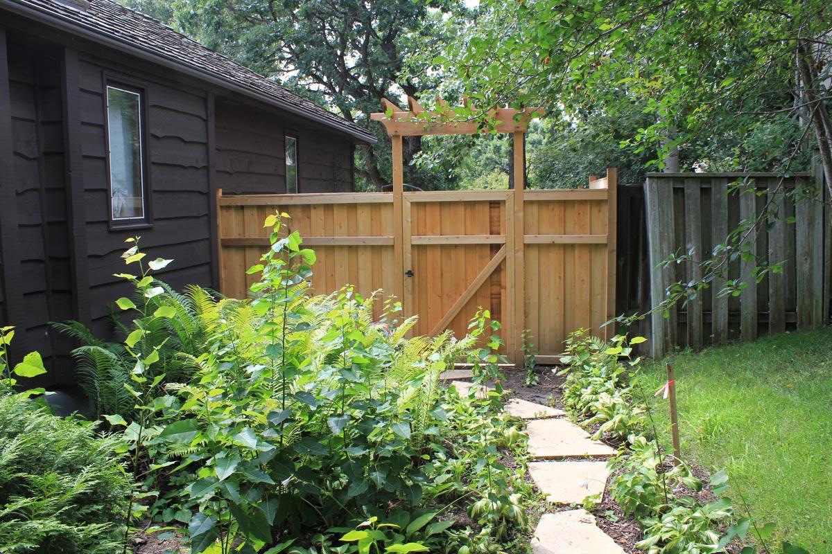 fence overhead trellis