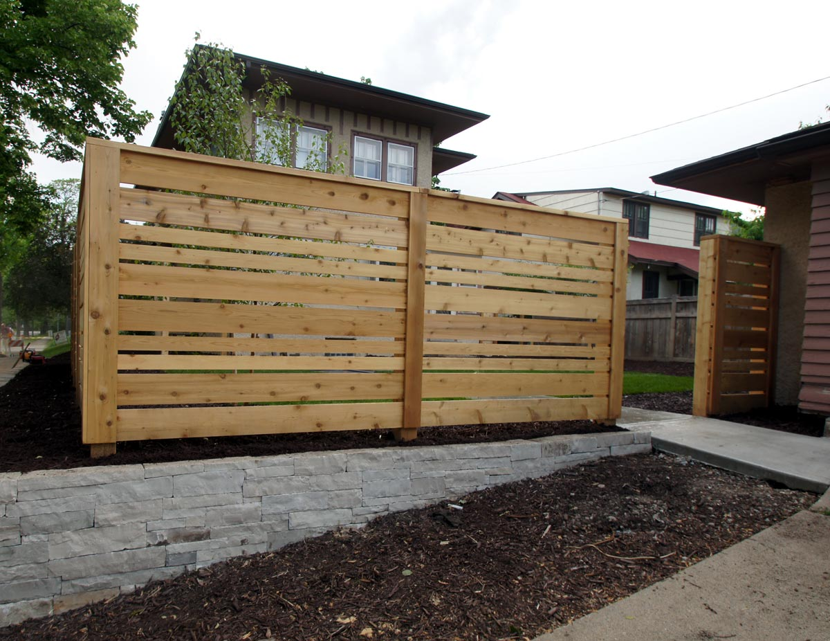 cedar modern fence