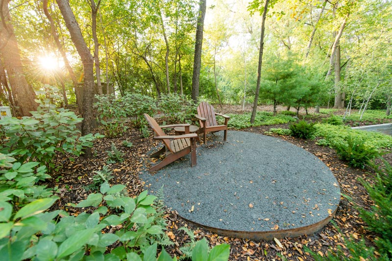 aggregate patio woods