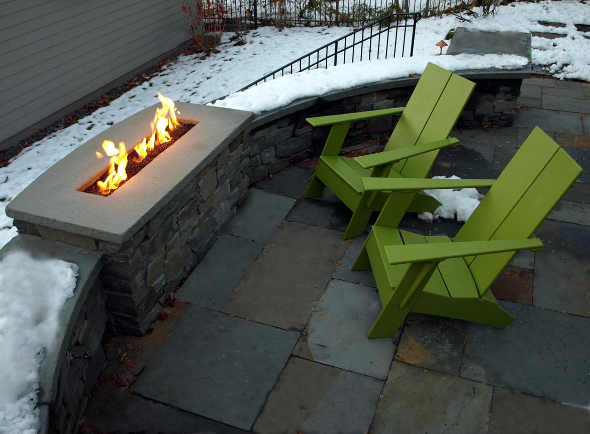 gas firepit stone