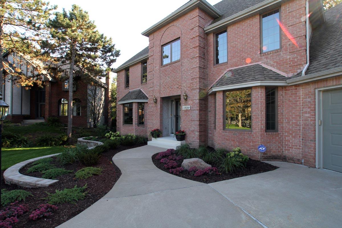 suburban front yard