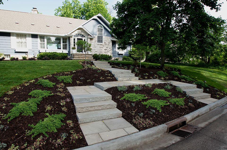 Edina, MN - Frontyard Walkway - Landscaping Design Company - Page Image - Ground One