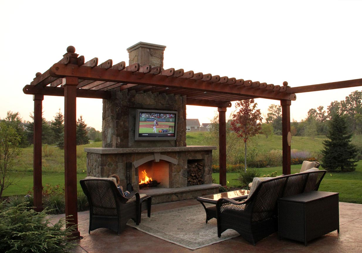 Rustic Outdoor Living Room   Ground One on Outdoor And Living id=44635