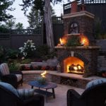 fireplace outdoor brick