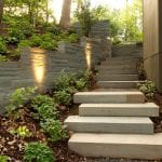 bluestone wall steps