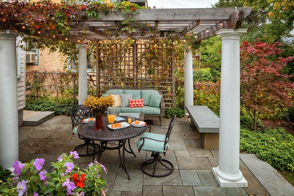 bluestone patio arbor