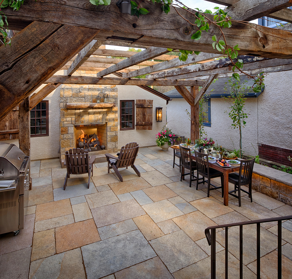Minneapolis landscape design courtyard