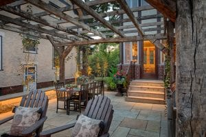 minneapolis landscape design courtyard steps barnwood