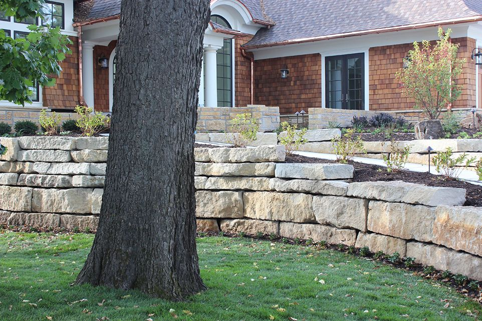Eden Prairie, MN - Frontyard - Rock Landscaping Design Company - Ground One