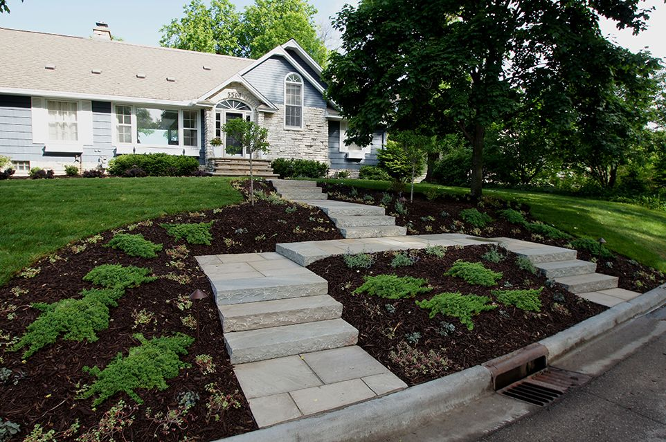 Edina, MN - Frontyard Walkway - Landscaping Design Company - Page Image - Ground One