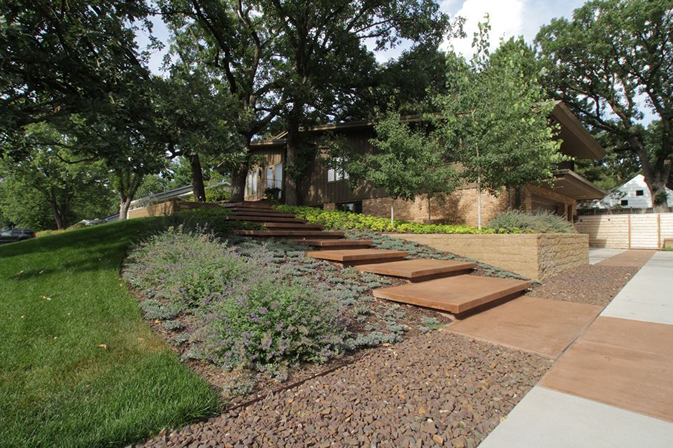 Saint Louis Park, MN - Frontyard Walkway - Landscaping Design Company - Page Image - Ground One
