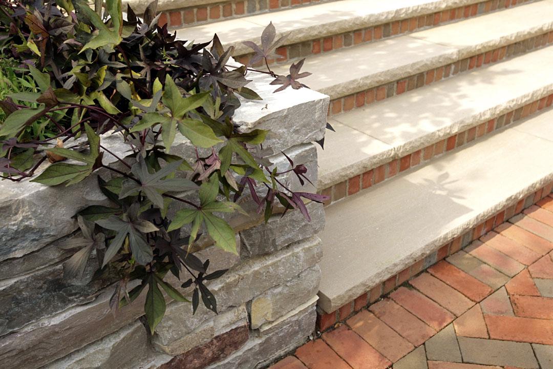 brick+limestone+steps