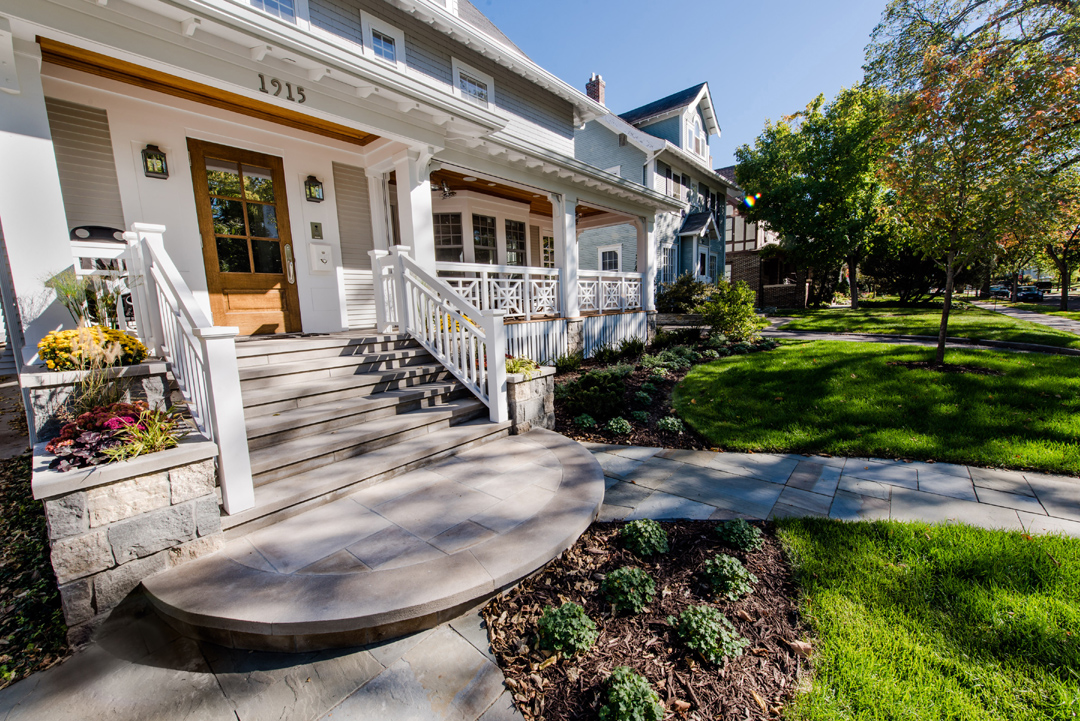 front yard landscaping in Twin Cities MN