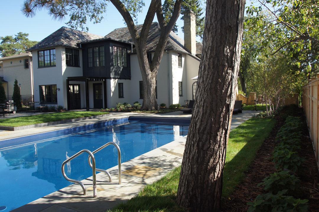 modern pool backyard
